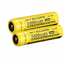 2 PACK NEW NITECORE 18650 NL189 3400 mah Rechargeable Battery Li-ion Protected