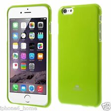 Genuine Mercury Goospery Lime Green Soft Jelly Skin Case Cover for iPhone 6/6s