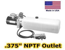 Hydraulic DC Power Unit - 3 Way Out Valve - 1.87 Gal - Pump, Motor, Reservoir