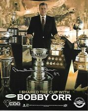 BOBBY ORR  UDA UPPER DECK AUTHENTICATED 8X10 PHOTO signed in silver Boston Bruin