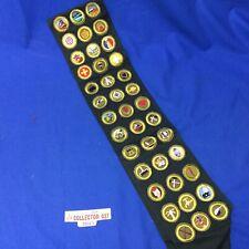 Boy Scout Dk. Green Merit badge Sash With 39 Merit Badges