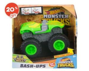 Hot Wheels Monster Trucks 1:43 Scale Bash Ups Vehicle Twin Mill Mattel SALE-20%!