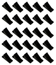 Black Plastic Mini Roof Snow Ice Guard-25 PK | Prevent Sliding Snow Stop Buildup
