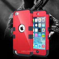 NEW HARD+SOFT RUBBER HIGH IMPACT ARMOR CASE TRIPLE COVER For iPod Touch 6th Gen