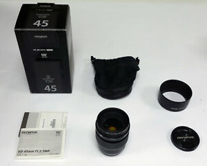 Olympus M.Zuiko ED 45mm f1.2 PRO Lens - Black - Micro Four Thirds MFT (REF361)