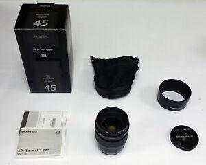 Olympus M.Zuiko ED 45mm f1.2 PRO Lens - Black - Micro Four Thirds MFT (REF361)