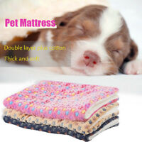 Large Indestructible Dog Bed Warm Plush Cushion Sleep Mats  for Kennel Crate