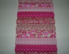 """40 x 5"""" CHARM PACK  PINK 100% COTTON PATCHWORK/QUILTING/CRAFTS PPP"""