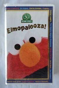 Sesame Street Elmopalooza VHS Tape Children Kids Song Collection Video Clamshell