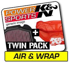 K&n Air Filter & Wrap Yamaha YFM350 Bruin Auto 4x4 2004-2006 Kn #YA-3504