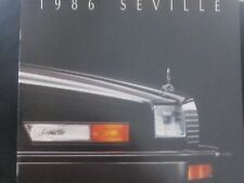 1986 Cadillac Seville sales brochure