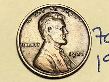 1926 1C BN Lincoln Cent WHEAT PENNY 7072K