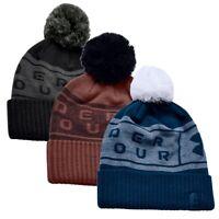 Herren UA Big Logo Pom Mütze Under Armour Winter Bobble Hat 1356711