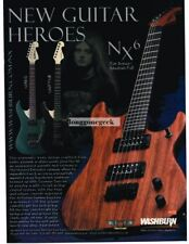 2002 WASHBURN NX6 Electric Guitar JON DONAIS of Shadows Fall Vtg Print Ad