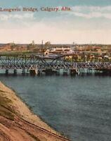 Postcard, Longevin Bridge Calgary Alberta Canada Vintage P31