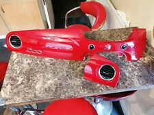 Fiat 500 Dash Panel Trim in Red with vents 2013 Onwards