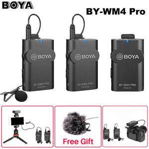 Boya BY-WM4 Pro K1 K2 Dual Channel 2.4G Wireless Studio Condenser Microphone