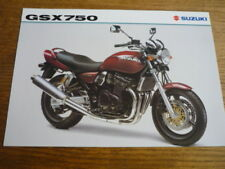SUZUKI GSX 750 MOTORBIKE BROCHURE 1998/99 - POST FREE (UK)