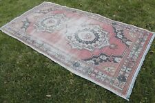 "Vintage Handwoven Turkish Muted Rug 91""x49"""