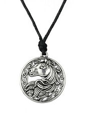 HORSE & WESTERN JEWELLERY JEWELRY LADIES CELTIC STYLE HORSE NECKLACE SILVER