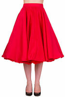Banned Swing Circle Retro 50s Rockabilly Pin Up Midi Skirt Plus size Over 18 20