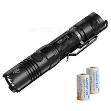 NiteCore P12GT 1000 Lumen 400 yard LED Flashlight w/ 2 x CR123A Batteries