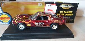 ERTL AMERICAN MUSCLE- 1970 BALDWIN MOTION CAMARO - 1/18 SCALE MODEL CAR - 33379