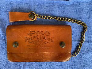 Ralph Lauren Biker Wallet Chain Vintage Preowned Zipper Pouch