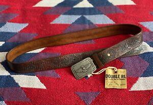 Double RL Ralph Lauren RRL Belt Leather Rare