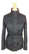 #610 Barbour Ladies New Flyweight International Black Quilt Biker Jacket UK 8