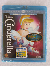 Cinderella (Blu-ray/DVD, 2012, 2-Disc Set, Diamond Edition) **NEW** Authentic