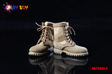 Play Toy Collectible Male Action Figure Modern Military Combat Boots in Tan 005C