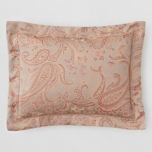 Sferra Bedding Sandro 3418 Paisley Egyptian Cotton BOUDOIR Sham Copper G2459