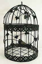 Decorative Black Finished Metal Bird Cage Must See!