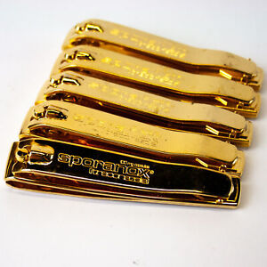 Sporanox Gold Toned Straight Edge Large Nail Clippers - Lot of 5