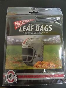 SET OF 2 - Collegiate stuff-a-helmet Ohio State leaf bags buckeyes helmet