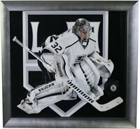Jonathan Quick Hand Signed Autographed Los Angeles Kings Hockey NHL Puck Framed