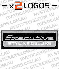 2x EXECUTIVE STYLINE Caravan decal, sticker, vintage, retro