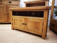 Montreal Oak 2 Door Corner Tv Cabinet / Rustic Solid Wood Living Room Furniture