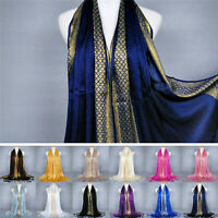 Women Muslim Islamic Cotton Tassel  Long Hijab Scarf Shawl Scarves Stole Wrap