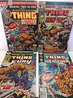 Bronze Age Marvel Comics, Marvel Two In One, Lot Of 4, Includes Annual No.1, VG+