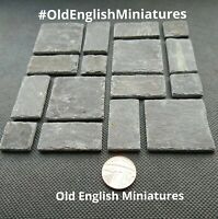 DOLLS HOUSE 1:12 scale real 100 year old slate miniture floor, Free UK postage