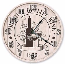 "10.5"" WINE FOR TWO CLOCK - Large 10.5"" Wall Clock - Home Décor Clock - 3007"