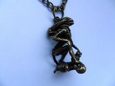 Stunning Bronze  Alien Chain Necklace  Aliens /  Predator Goth / Horror / Giger