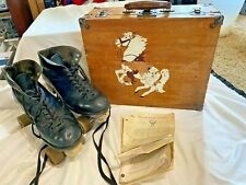 Vintage BETTY LYTLE HYDE Chicago Roller Skates BLACK Mens Size 7 with case
