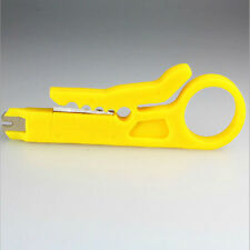 2xYellow Stripping Tool Network Wire Cable Punch Down Cutter Stripper for Cat5/6