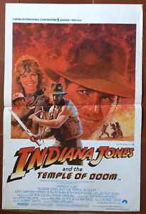Locandina Belga Indiana Jones E Il Tempio Cursed Steven Spielberg Harrison Ford