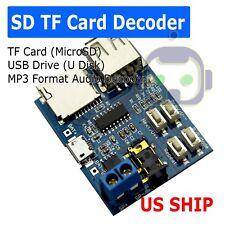 MP3 USB Flash Drive Micro SD TF Card Player Decoding Amplifier Board Module USA