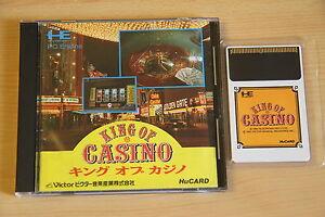 King of Casino Jeu NEC PC Engine Hucard import JAP cib