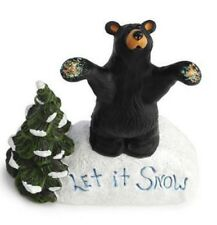 Bearfoots Let it Snow Holiday Bear with Christmas Tree Figurine 3005080178 New